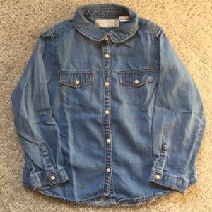 Zara girls denim top 3/4yrs